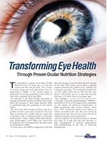 Transforming Eye Health Through Proven Ocular Nutrition Strategies